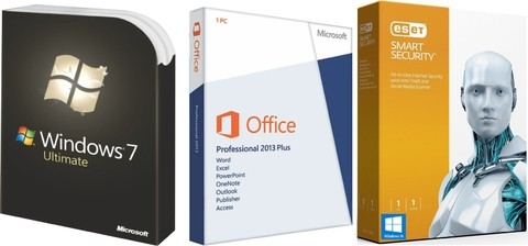 Super Promoção 87% OFF, Windows 7 Ultimate, OFFICE 2013 PROFESSIONAL PLUS E SMART SECURITY 9 2016 1 PC 1 ANO