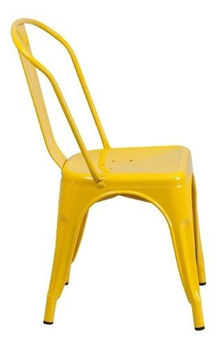 Set * 2 Silla Tolix Pauchard  Amarillo Mate - Alto Impacto - ALTO IMPACTO Home + Office