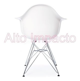 Set * 2 Sillon Eames Dar Base Metalica - Alto Impacto en internet
