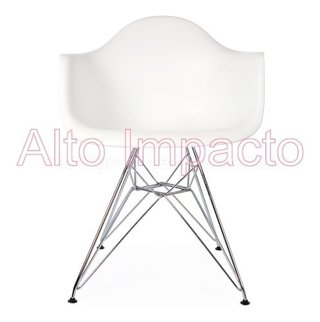 Set * 2 Sillon Eames Dar Base Metalica - Alto Impacto