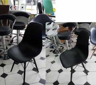 Set 4 Sillas Eames Dsw Negra All Black/white 1 Alto Impacto - ALTO IMPACTO Home + Office