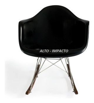 Silla Sillon Mecedora Rocking Chair Charles Eames All Black en internet