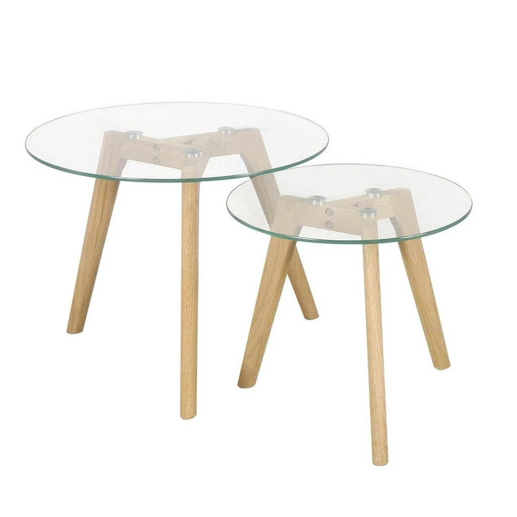 Mesa ratona escandinaba vidrio - Mesa madera y vidrio ...