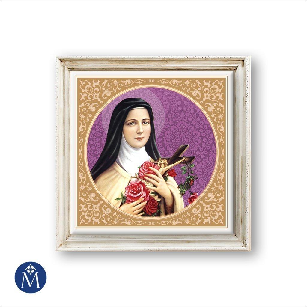 Azulejo Enmarcado Santa Teresita del Niño Jesús