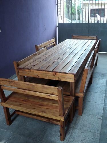 Comprar mesas en madera maciza filtrado por a z - Bancos de madera para interior ...