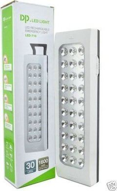 Pack X5 Luz De Emergencia 30 Leds Recargable Enchufe 220v en internet