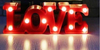Cartel Luminoso Love Luz Led Luz Color Dormitorio Letras - comprar online