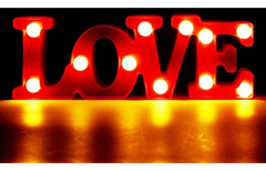 Cartel Luminoso Love Luz Led Luz Color Dormitorio Letras - tienda online