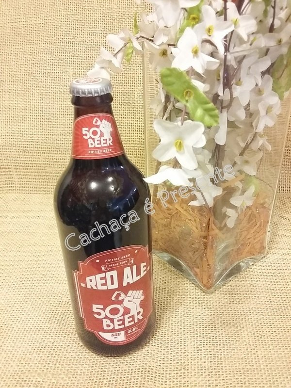 CERVEJA FIFTIES BEER RED ALE 600ML - 01173 - www.cachacaepresente.com.br
