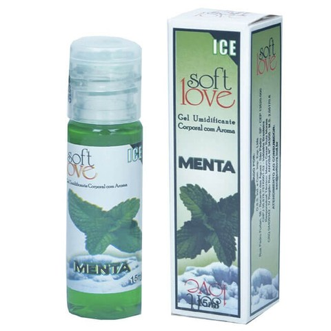 GEL UMIDIFICANTE CORPORAL ICE COM AROMA MENTA - SOFT LOVE