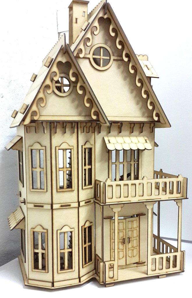 Casa de mu ecas juego de muebles via laser for Muebles casa de munecas