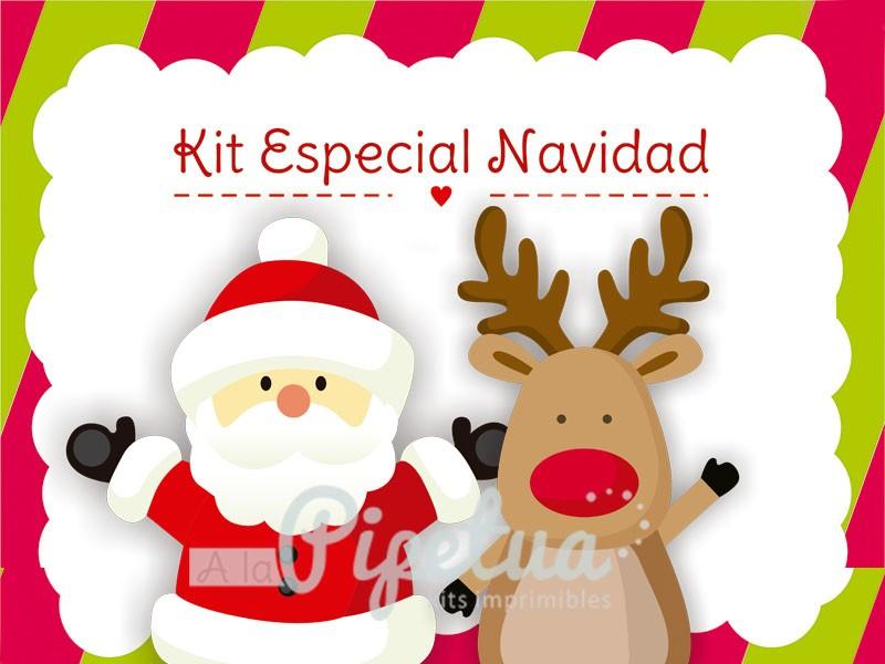 Kit imprimible navidad - Papa noel decoracion navidena ...