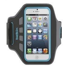 Braçadeira Neopreme Sport EaseFit para iPhone 5, 5s, 5c e 6SE Cinza / Azul