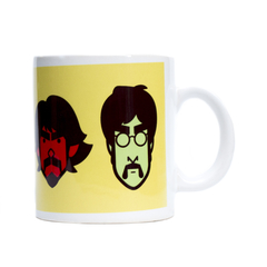 "Taza Costhansoup ""Beatles"" en internet"