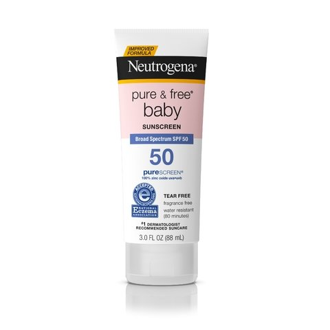 Neutrogena Pure & Free Baby Mineral Sunscreen Broad Spectrum SPF 50