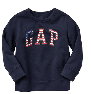 Blusa Moletom logo USA - GAP