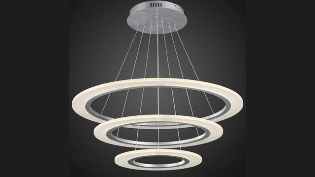 Lampara colgante moderna ara a luz led acero y acrilico - Lampara arana moderna ...
