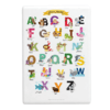 Cuadro  Rectangular ABC Animal en Ingles