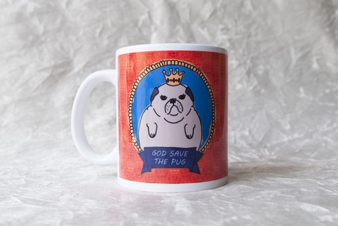 Caneca God Save The Pug
