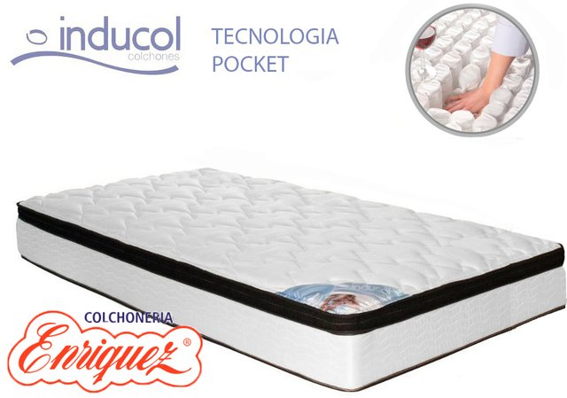 COLCHON  RESORTES INDUCOL POCKET FIRM 90X190