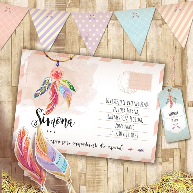 Kit Imprimible Boho Chic Étnico Personalizable