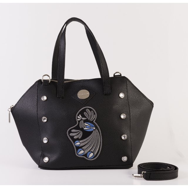 Cartera Osaka Bordado Negro