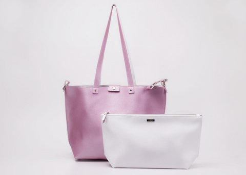 Bolso Twins Rosa&Natural
