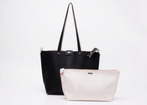 Bolso Twins Negro&Champagne