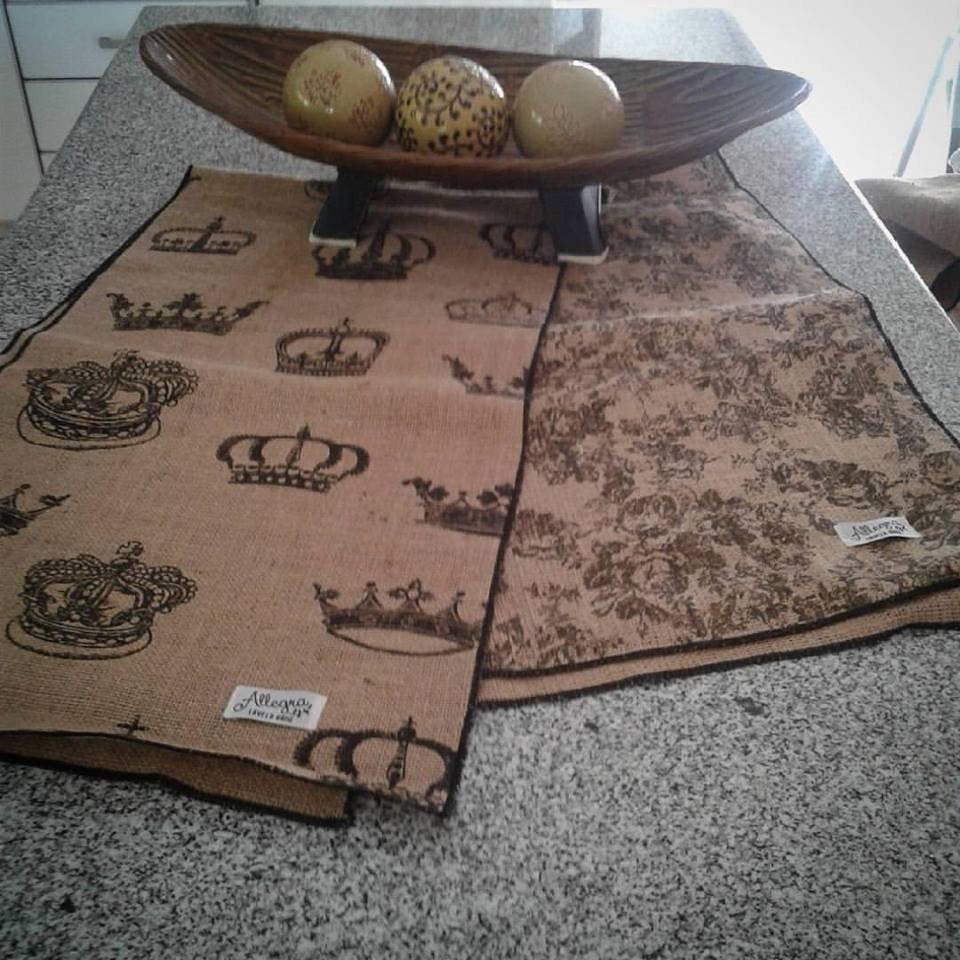 Camino de mesa arpillera estampada allegra home - Caminos para mesas ...