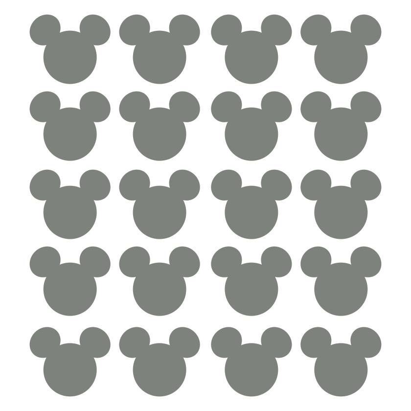 Artesanato Com Materiais Variados ~ Adesivo de Parede Kit Orelhas Mickey