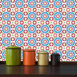 adesivo de azulejo mosaico rabe adesivo de parede adesivos decorativos artequecola
