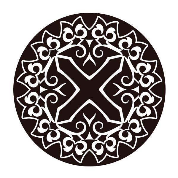 Como Fazer Artesanato Reciclagem De Garrafa Pet ~ Adesivo de Parede Mandala 03