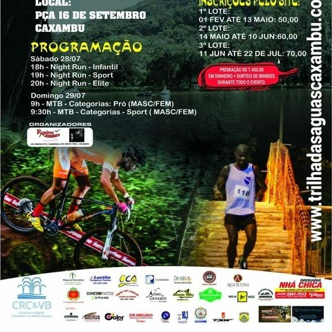 2ª Trilha das Águas Caxambu - Night Run e MTB