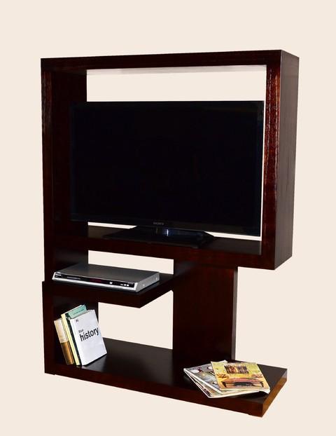 Muebles para tv madera mira sala muebles para tv for Muebles madera madrid