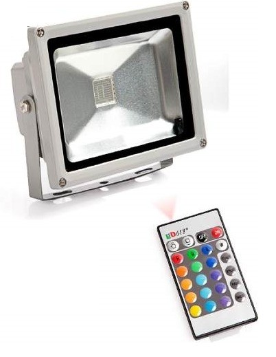 Reflector led exterior 20w rgb