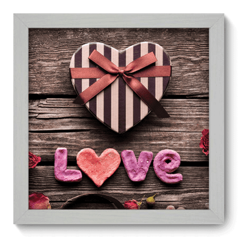 Quadro Decorativo - Love - 001qdob
