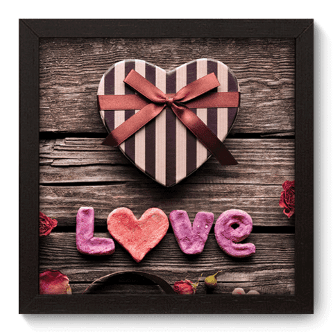 Quadro Decorativo - Love - 001qdop