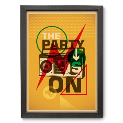 Poster Decorativo - Party On - 002pst