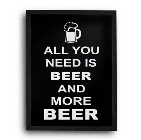 Quadro Porta Tampinha - All You Need is Beer - 003od