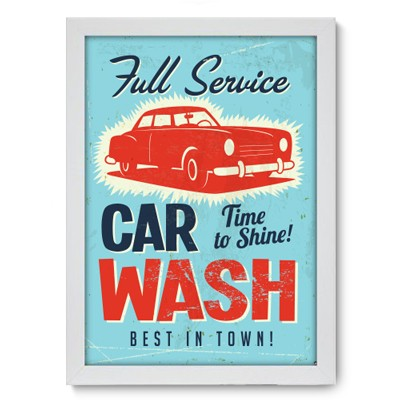 Poster Decorativo - Car Wash - 004pst