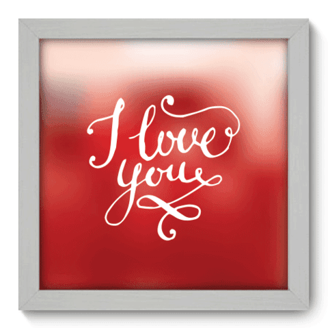 Quadro Decorativo - I Love You - 004qdob