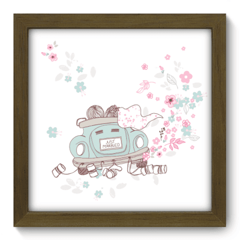 Quadro Decorativo - Just Married - 005qdom