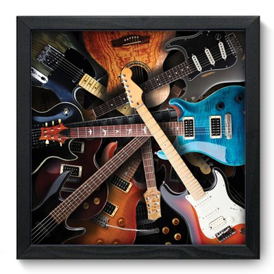 Quadro Decorativo - Guitars - 006qdgp