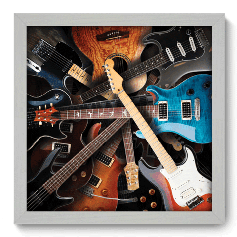 Quadro Decorativo - Guitars - 006qdgb