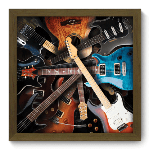 Quadro Decorativo - Guitars - 006qdgm