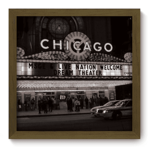 Quadro Decorativo - Chicago - 007qdhm