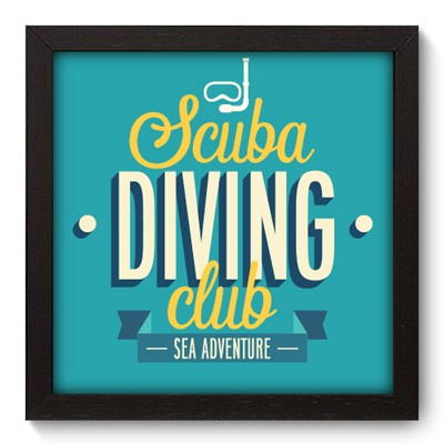 Quadro Decorativo - Scuba Diving - 008qdep