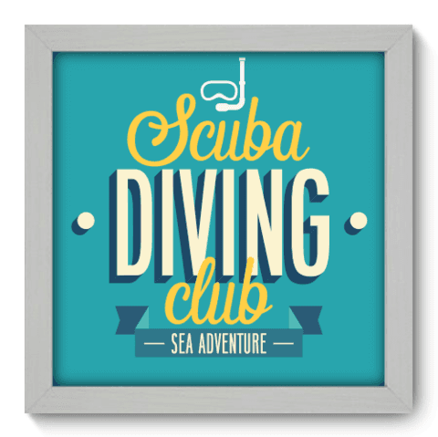 Quadro Decorativo - Scuba Diving - 008qdeb