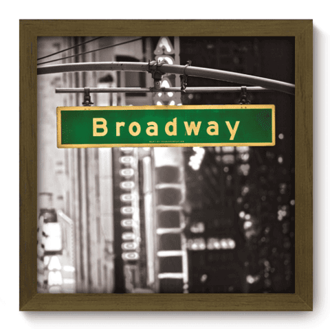 Quadro Decorativo - Broadway - 008qdmm
