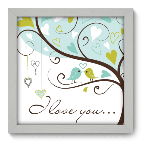 Quadro Decorativo - I Love You - 008qdob